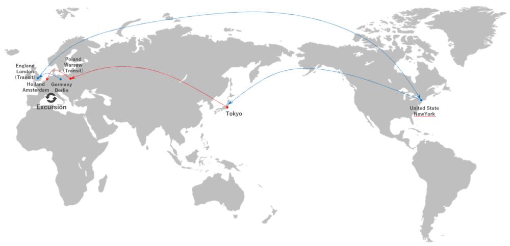 【ついに出発】世界一周旅行START!!